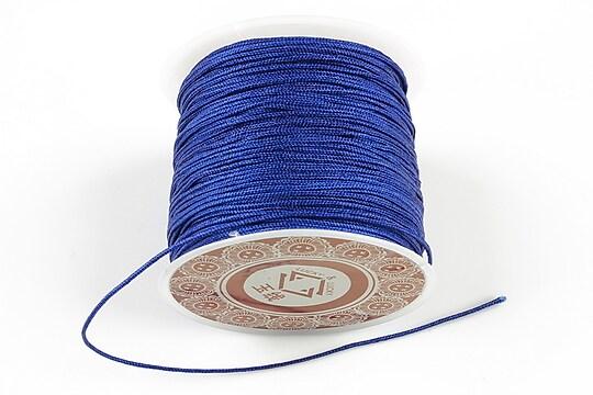 Snur Shamballa grosime 1mm, rola de 28m - albastru cobalt
