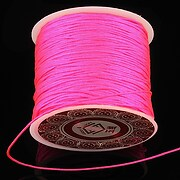 Snur Shamballa grosime 1mm, rola de 28m - roz bonbon