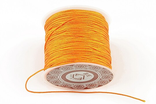 Snur Shamballa grosime 1mm, rola de 28m - portocaliu aprins