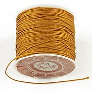 Snur Shamballa grosime 1mm, rola de 28m - portocaliu auriu