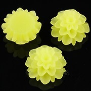 Cabochon rasina frosted dalie 20mm - verde lime