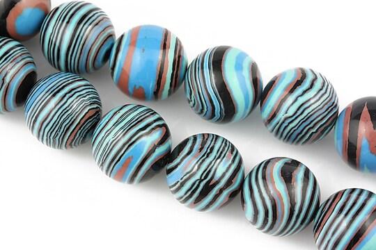 Compozit albastru-negru-maro sfere 14mm
