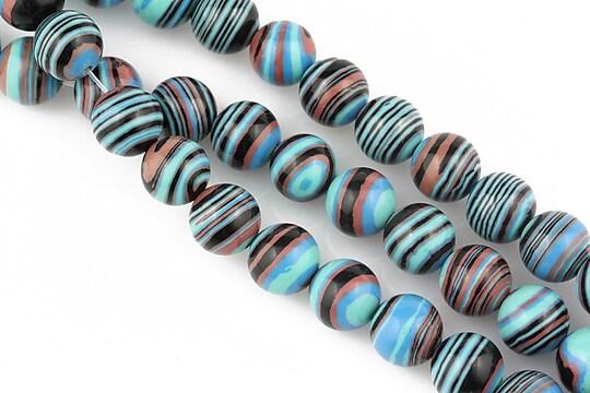 Compozit albastru-negru-maro sfere 8mm