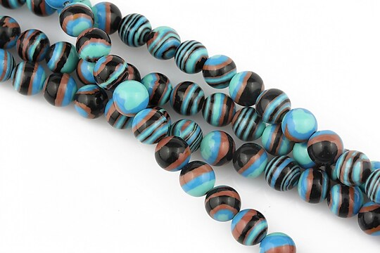 Compozit albastru-negru-maro sfere 6mm