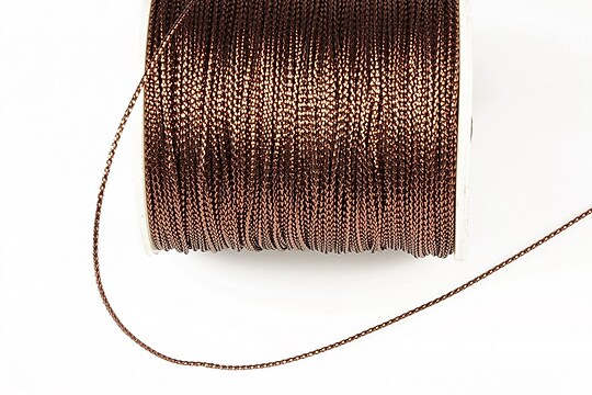 Snur metalic 0,8mm (1m) - maro
