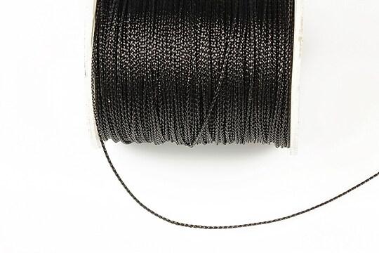 Snur metalic 0,8mm (1m) - negru