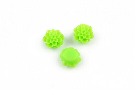 Cabochon rasina dalie 10mm - verde