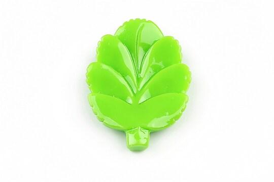 Cabochon rasina frunza 37x27mm - verde deschis