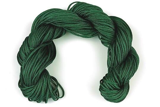 Ata nylon, grosime 1mm, aprox. 20-22m,  verde inchis