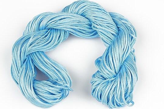 Ata nylon, grosime 1mm, aprox. 20-22m,  albastru deschis