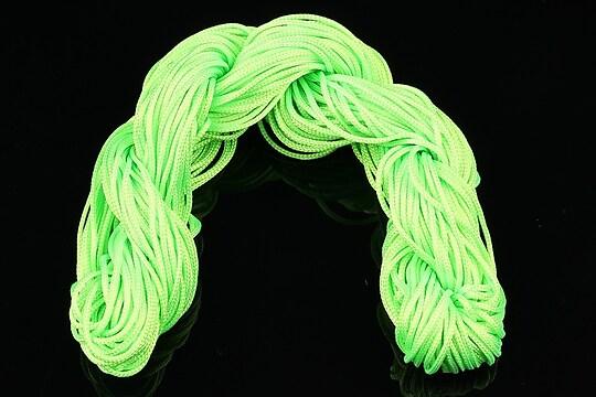 Ata nylon, grosime 1mm, 20-22mm, verde neon