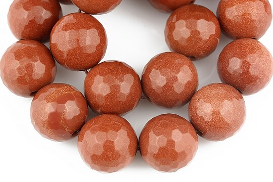 Goldstone sfere fatetate 14mm