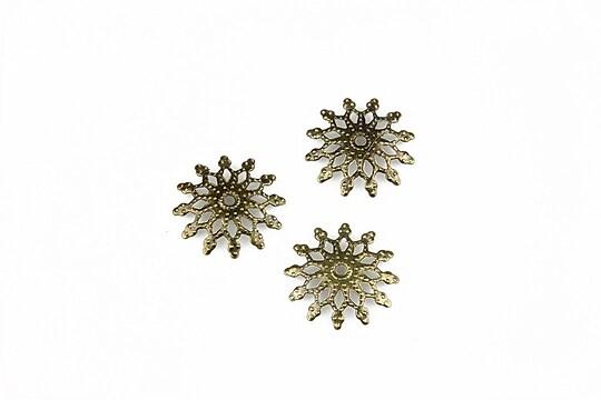 Capacele filigranate bronz floare 13mm