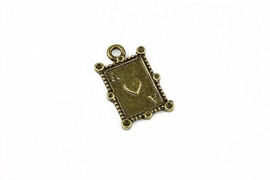 Charm bronz carte de joc 23x15mm