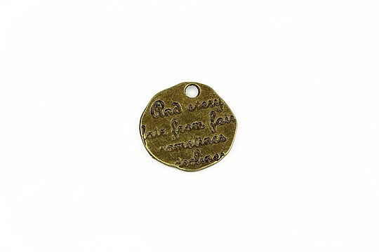 Charm bronz mesaj 18mm