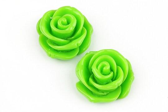 Cabochon rasina trandafir 24mm - verde deschis