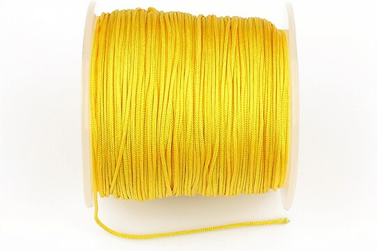 Snur Shamballa Dandelion grosime 1mm, rola de 100m - galben porumb