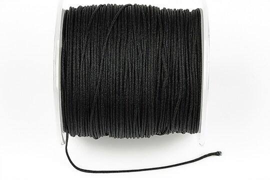 Snur Shamballa Dandelion grosime 1mm, rola de 100m - negru