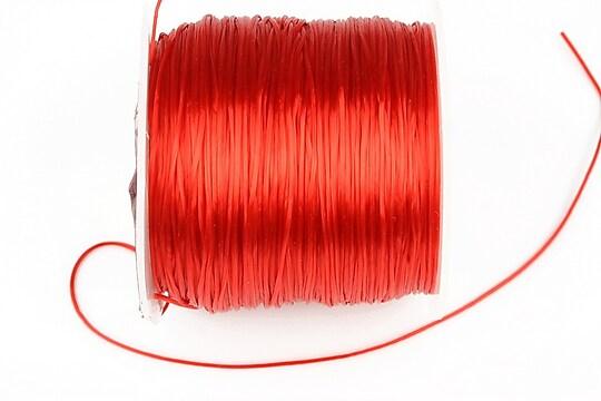 Elastic pentru bratari Crystal String 0,8mm - rola 50m - rosu