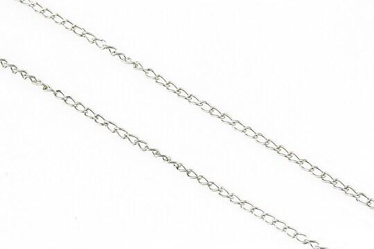 Lant argintiu inchis 1,5x2,5mm (49cm)