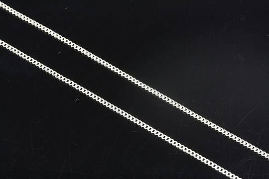 Lant argintiu 1x1mm (49cm)