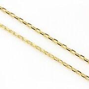 Lant cu zale sudate, in doua culori 3x2mm (49cm) - auriu - auriu