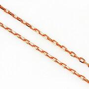 Lant cu zale sudate, in doua culori 3x2mm (49cm) - auriu - portocaliu