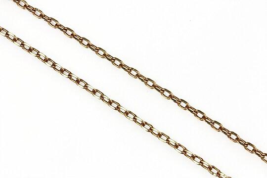 Lant cu zale sudate, in doua culori 3x2mm (49cm) - auriu -maro