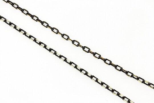 Lant cu zale in doua culori 3x2mm (49cm) - auriu -negru