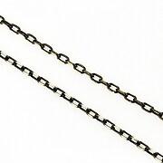 Lant cu zale sudate, in doua culori 3x2mm (49cm) - auriu -negru