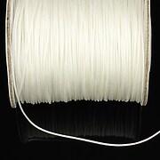 Snur nylon cu guta in interior grosime 1mm (10m) - alb