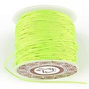 Snur Shamballa grosime 1mm, rola de 28m - verde neon