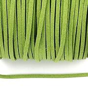 Snur faux suede latime 3mm (5m) - verde masliniu cu particule stralucitoare