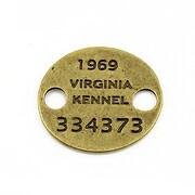 Link bronz placuta Virginia Kennel 28x25mm