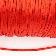 Snur nylon satinat grosime 2mm (5m) - rosu
