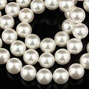 Perle tip Mallorca albe sfere 8mm