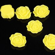 Cabochon rasina trandafir 14x12mm