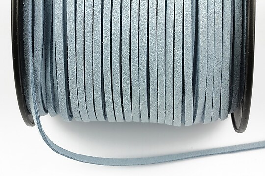Snur suede (imitatie piele intoarsa) 3x1mm, gri deschis (1m) - cod 693