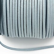 Snur suede (imitatie piele intoarsa) 3x1mm, gri deschis (5m) - cod 693