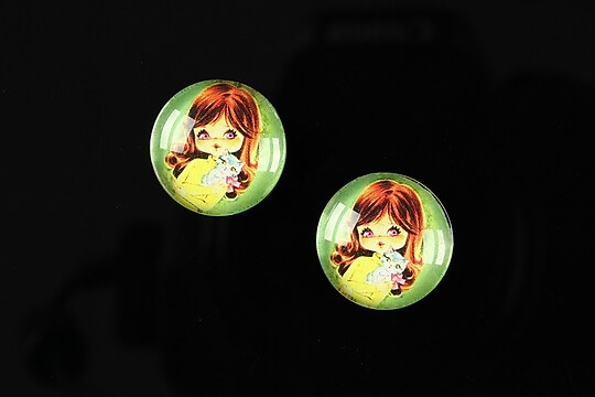 "Cabochon sticla 16mm ""Baby dolls"" cod 039"
