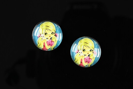 "Cabochon sticla 16mm ""Baby dolls"" cod 041"