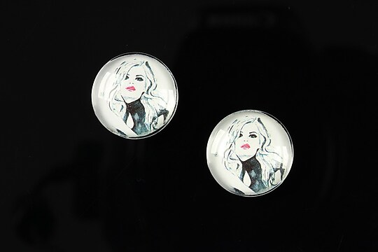 "Cabochon sticla 16mm ""illustration"" cod 051"