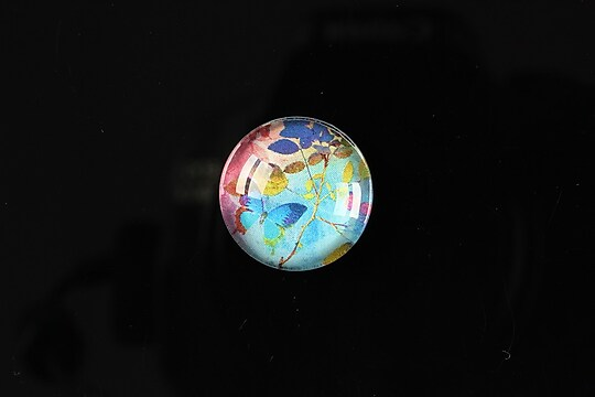 "Cabochon sticla 18mm ""Magic garden"" cod 059"