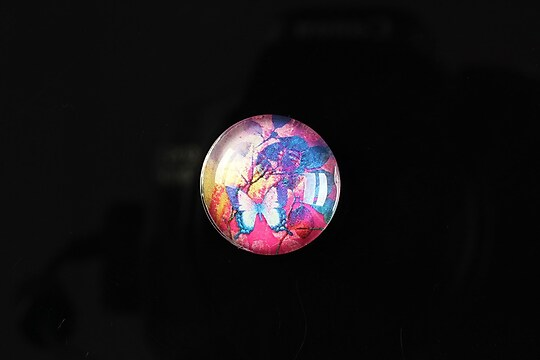 "Cabochon sticla 18mm ""Magic garden"" cod 062"