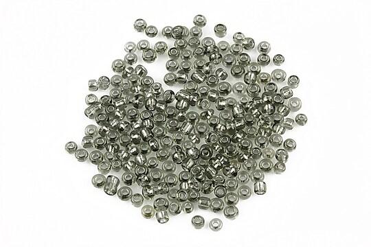 Margele de nisip 2mm cu foita argintie (50g) - cod 046 - gri