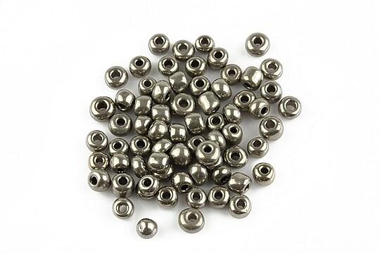 Margele de nisip 4mm (50g) - cod 124 - argintiu inchis