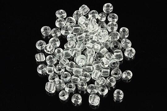 Margele de nisip 4mm (50g) - cod 056 - alb transparent