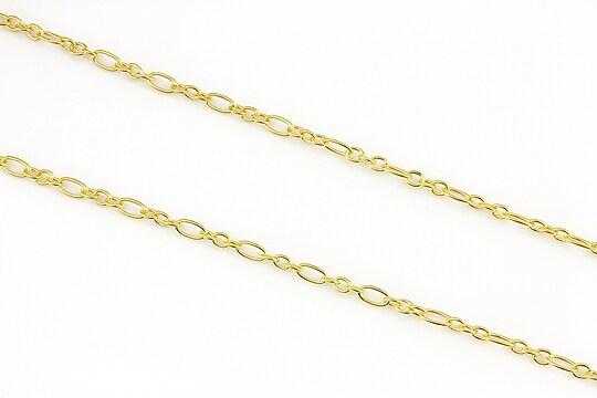 Lant auriu 3,8x6+3x3,5mm (49cm)