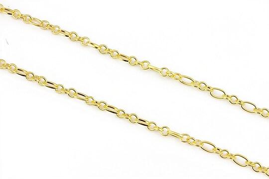 Lant auriu 5x3+4x3,5mm (49cm)