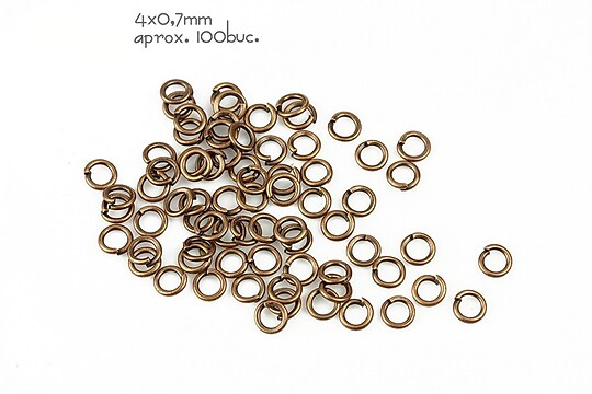 Zale cuprate 4mm (grosime 0,7mm)